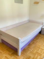 Bett weiss vollholz