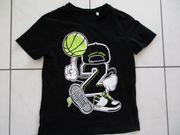 schwarzes Unisex T-Shirt 146 152