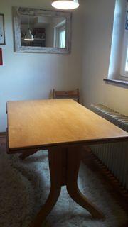 Schöner Holztisch 125×80cm stabil ausfahrbar