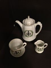 Patriotisches Kaffee Set Porzellan Aufdruck