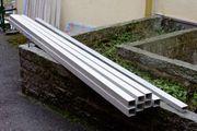 1 x Aluminium Rohr Alurohr-Vierkant