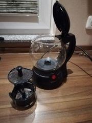 Teekocher mit Glaskanne und herausnehmbarem