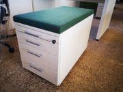 Rollcontainer mit Sitzkissen Bürocontainer Schubladencontainer