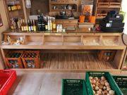 Verkaufstheke aus Holz Einzelanfertigung
