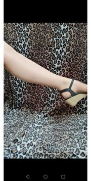 Nylon Strumpfhose getragen