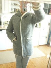 Zara plüschige Fake Fur Winterjacke