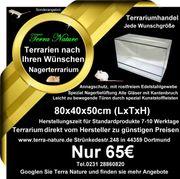 Nagerterrarium 80x40x50cm Terrarium Käfig
