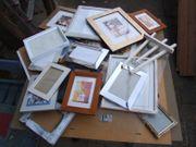Konvolut Bilderrahmen Holz Rahmen Bilder