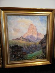 Bild Ölbild Ölgemälde Matterhorn