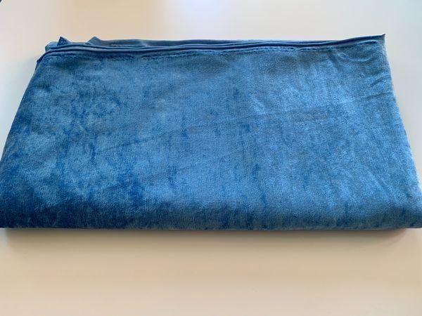 Restposten Stoffrest Pannesamt hellblau 150x175cm