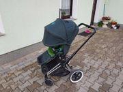 Cybex Priam Sportwagen Kinderwagen grün