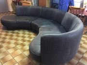 Schwarzes Leder-Sofa GRATIS