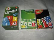 Uno Pocket Scrabble Pocket Ligretto