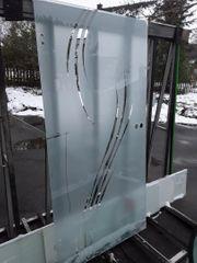 Glastüre ESG 8 mm mit