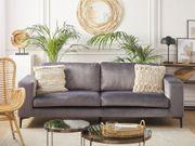 3-Sitzer Sofa Samtstoff dunkelgrau VADSTENA neu