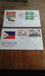 Briefmarken Asien Sonderstempel kuverts srlten