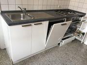 Küchenzeile Gaskochfeld Backofen Geschirrspülmaschine AEG
