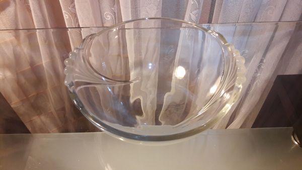 Schale Glasschale Konfektschale Plätzchenschale Obstschale