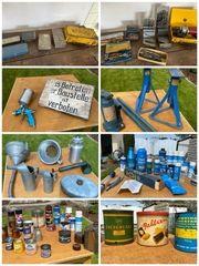 Historische Blechdosen Milchkännchen Trichter Werkzeuge