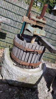 Antike Obstpresse Saftpresse Weinpresse mit