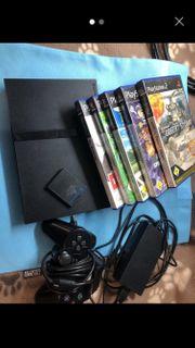 PS 2 mit 5 spielen