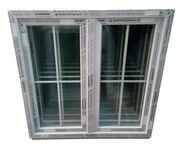 Kunststofffenster 120x120 cm 2-flg Sprossen
