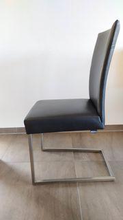 4 Stühle Musterring Freischwinger Leder
