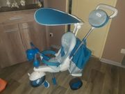 Dreirad smarTrike 5-in-1 Splash blau-weiß