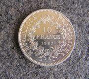 10 Francs Münze Hercule 1967 -