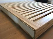 IKEA Bett Mandal Echtholz Buche