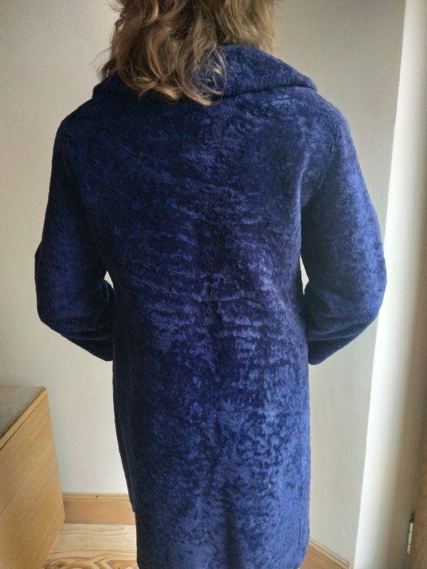 Mantel Lammfell blau Gr 38
