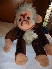 Affe Stofftier alt aber neuwertig