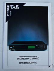T A Pulsar PreCD 2000AC