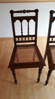Stuhl antik Sitzgeflecht Buche 2