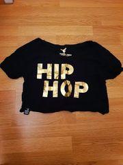 Cooles Hip-Hop-Shirt in schwarz mit