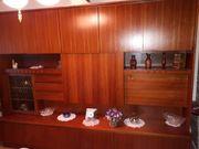 Wohnwand Wohnzimmer Schrank Nussbau Holz