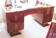 Dreiteilige Artdeco Meisterarbeit Schreibtisch Stuhl