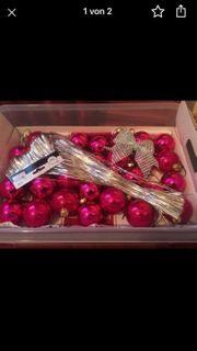 30 Christbaumkugeln Pink