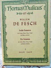 De Fesch 127 Sechs Sonaten