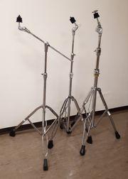 Schlagzeug 3 Beckenständer Cymbal Stand
