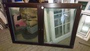 Neue zweiflügige Holzfenster
