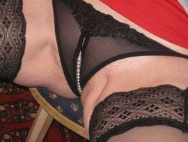 Fetischartikel, Getragene Wäsche - Getragene Wäsche Perlen Tanga String