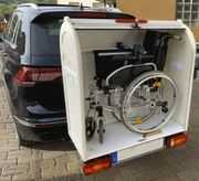 Rollstuhl-Transportbox für die Anhängerkupplung