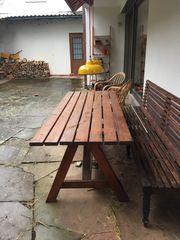 handgefertigter Gartentisch