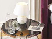 Tischlampe cremeweiß Keramik 37 cm