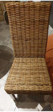 Rattan Stühle 4Stück