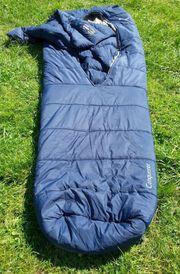 Neuwertiger Schlafsack mit integrierter Daunendecke