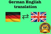 I will provide english german