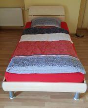 2x Wellemöbel Bett Ahorn 100