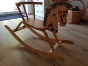 schaukelpferd Holz Wippe Kinderspielzeug
